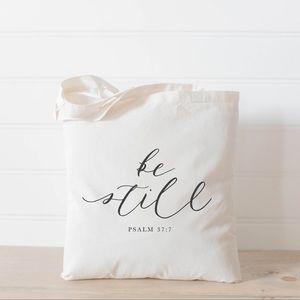 Handbags - Be Still Verse Tote Bag